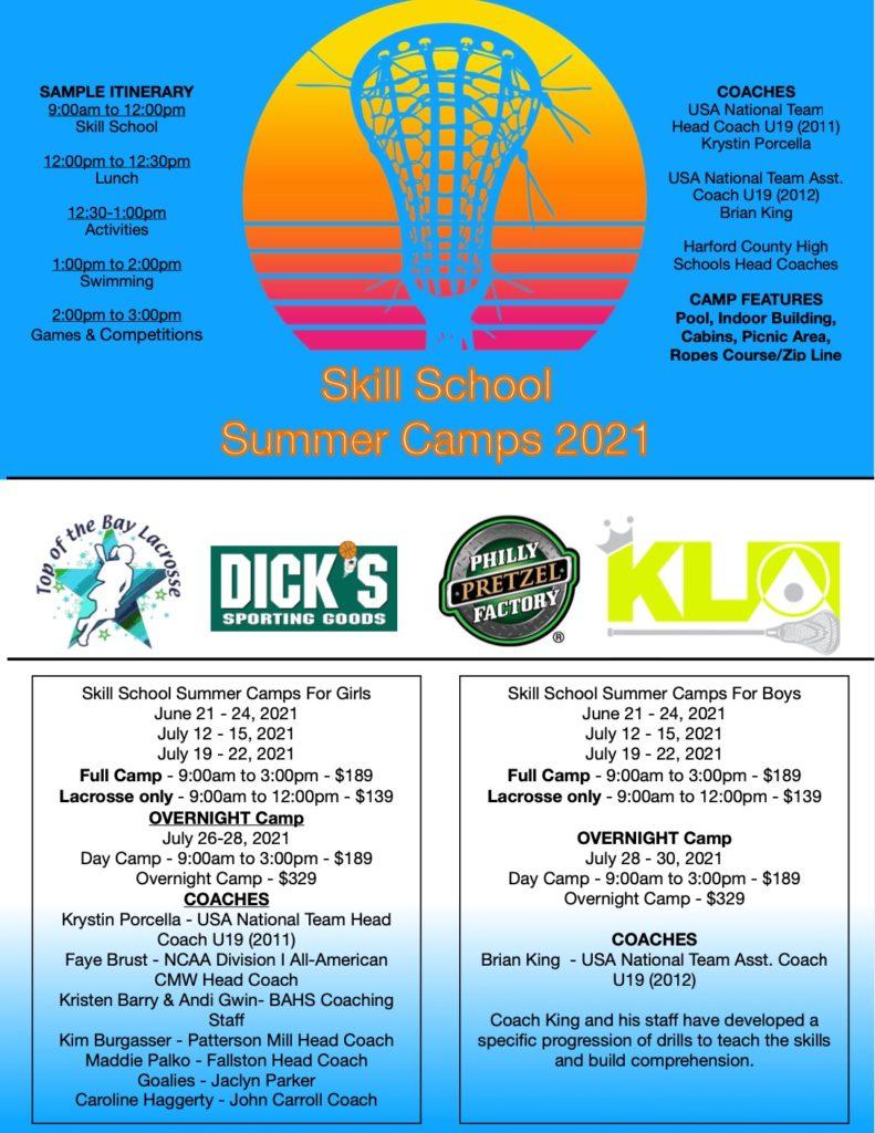 summer camp flier 2021